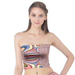 Pastel Shades Ornamental Flower Tube Top