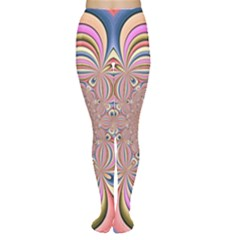 Pastel Shades Ornamental Flower Women s Tights