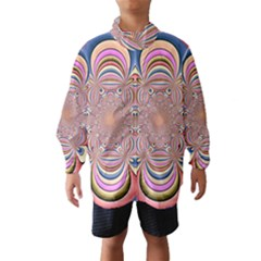Pastel Shades Ornamental Flower Wind Breaker (Kids)