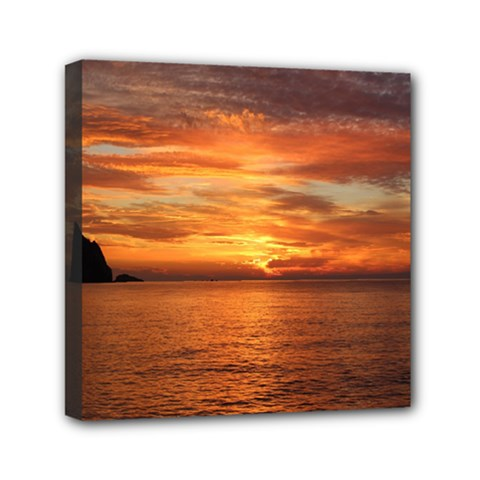 Sunset Sea Afterglow Boot Mini Canvas 6  x 6
