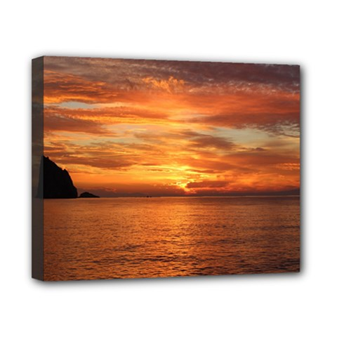 Sunset Sea Afterglow Boot Canvas 10  x 8