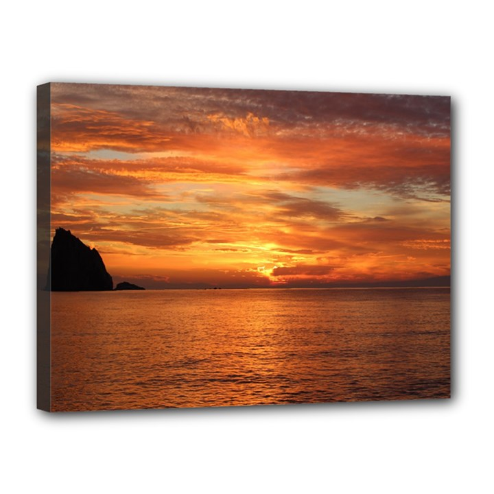 Sunset Sea Afterglow Boot Canvas 16  x 12