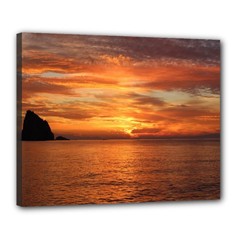 Sunset Sea Afterglow Boot Canvas 20  x 16