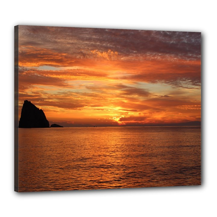 Sunset Sea Afterglow Boot Canvas 24  x 20
