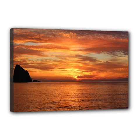 Sunset Sea Afterglow Boot Canvas 18  x 12
