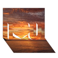 Sunset Sea Afterglow Boot I Love You 3D Greeting Card (7x5)