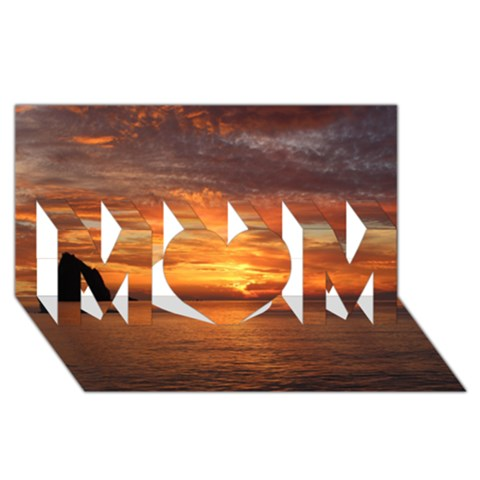 Sunset Sea Afterglow Boot MOM 3D Greeting Card (8x4)