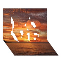 Sunset Sea Afterglow Boot LOVE 3D Greeting Card (7x5)