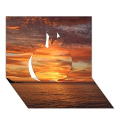 Sunset Sea Afterglow Boot Apple 3D Greeting Card (7x5)