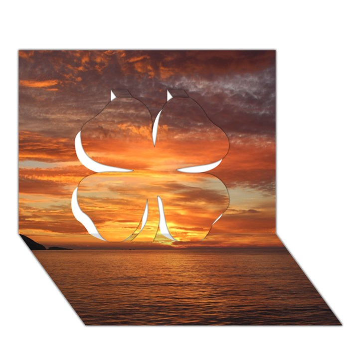 Sunset Sea Afterglow Boot Clover 3D Greeting Card (7x5)