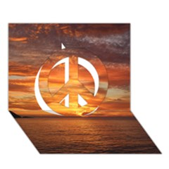 Sunset Sea Afterglow Boot Peace Sign 3D Greeting Card (7x5)