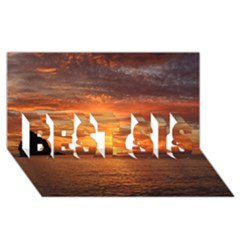 Sunset Sea Afterglow Boot BEST SIS 3D Greeting Card (8x4)
