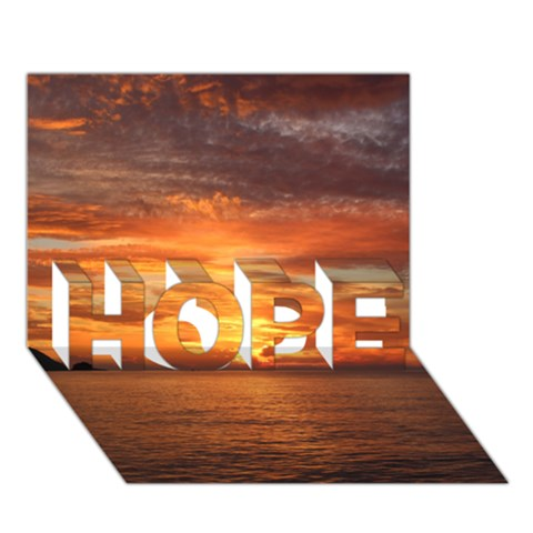 Sunset Sea Afterglow Boot HOPE 3D Greeting Card (7x5)