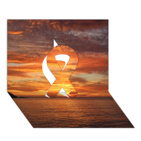 Sunset Sea Afterglow Boot Ribbon 3D Greeting Card (7x5)