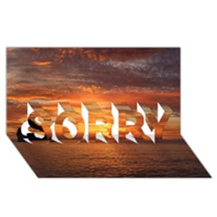 Sunset Sea Afterglow Boot SORRY 3D Greeting Card (8x4)