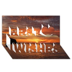 Sunset Sea Afterglow Boot Best Wish 3D Greeting Card (8x4)