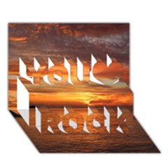 Sunset Sea Afterglow Boot You Rock 3D Greeting Card (7x5)