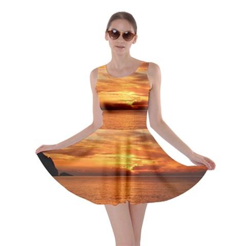 Sunset Sea Afterglow Boot Skater Dress
