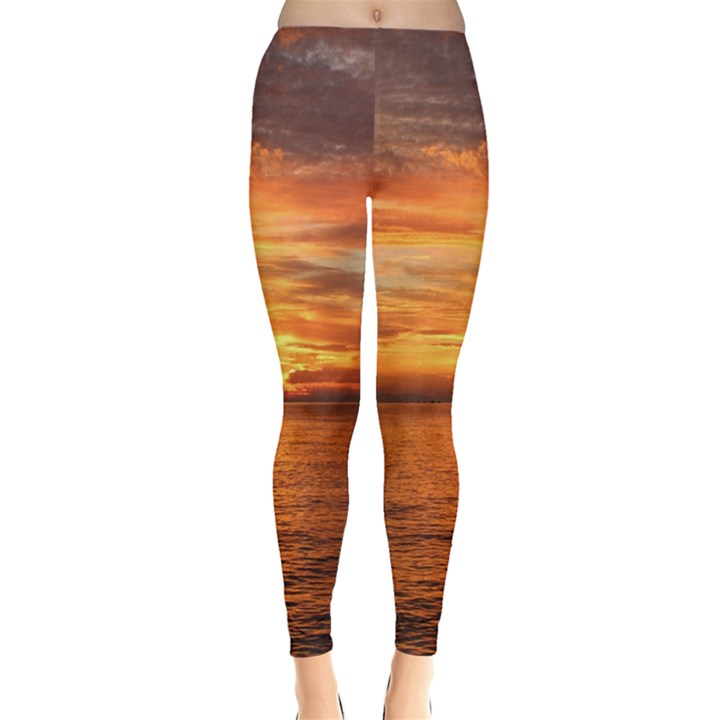 Sunset Sea Afterglow Boot Leggings