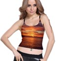 Sunset Sea Afterglow Boot Spaghetti Strap Bra Top View1