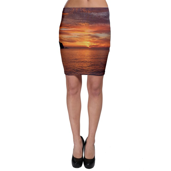 Sunset Sea Afterglow Boot Bodycon Skirt