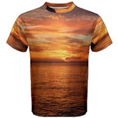 Sunset Sea Afterglow Boot Men s Cotton Tee