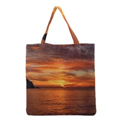 Sunset Sea Afterglow Boot Grocery Tote Bag