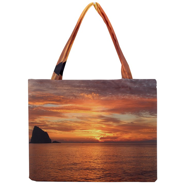 Sunset Sea Afterglow Boot Mini Tote Bag
