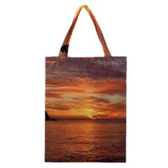 Sunset Sea Afterglow Boot Classic Tote Bag