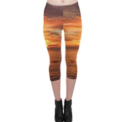 Sunset Sea Afterglow Boot Capri Leggings