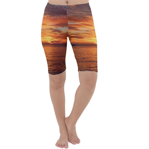 Sunset Sea Afterglow Boot Cropped Leggings