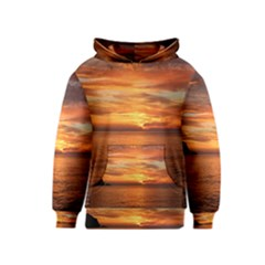 Sunset Sea Afterglow Boot Kids  Pullover Hoodie