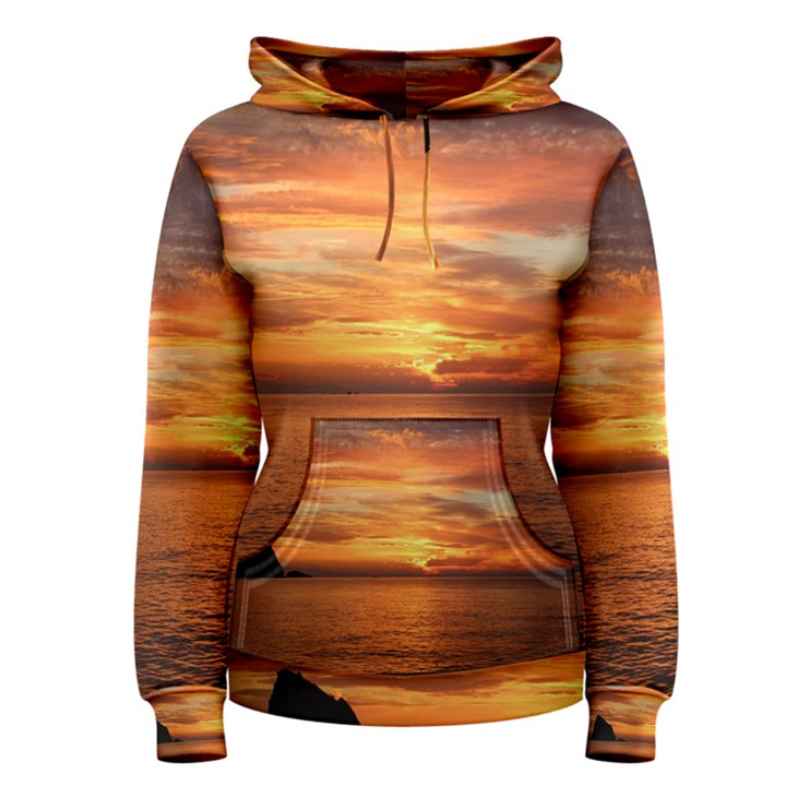 Sunset Sea Afterglow Boot Women s Pullover Hoodie