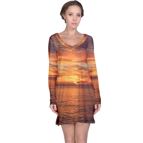 Sunset Sea Afterglow Boot Long Sleeve Nightdress