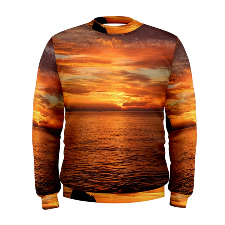 Sunset Sea Afterglow Boot Men s Sweatshirt
