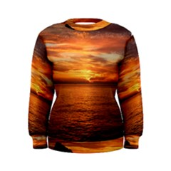 Sunset Sea Afterglow Boot Women s Sweatshirt
