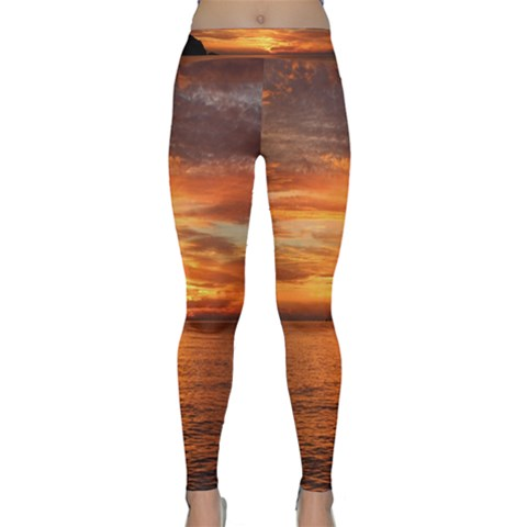 Sunset Sea Afterglow Boot Yoga Leggings