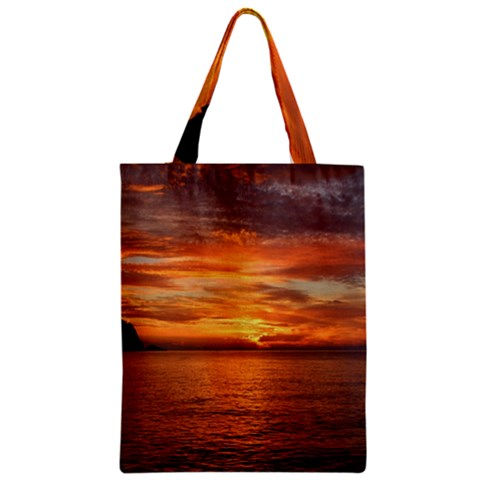 Sunset Sea Afterglow Boot Zipper Classic Tote Bag