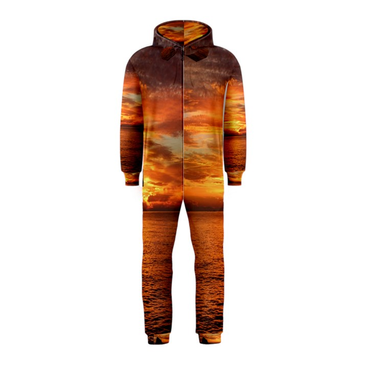 Sunset Sea Afterglow Boot Hooded Jumpsuit (Kids)