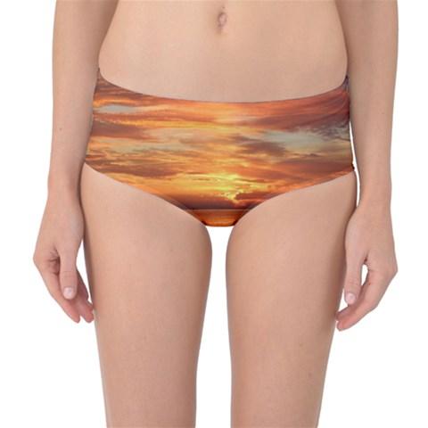 Sunset Sea Afterglow Boot Mid-Waist Bikini Bottoms