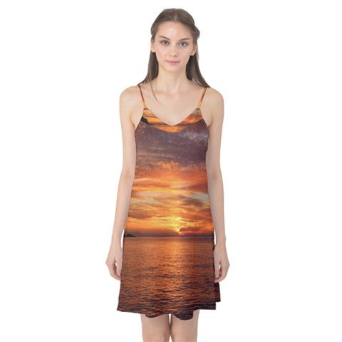 Sunset Sea Afterglow Boot Camis Nightgown