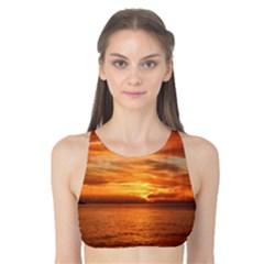 Sunset Sea Afterglow Boot Tank Bikini Top