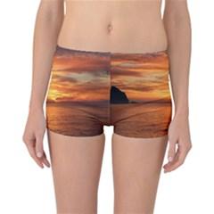 Sunset Sea Afterglow Boot Reversible Boyleg Bikini Bottoms