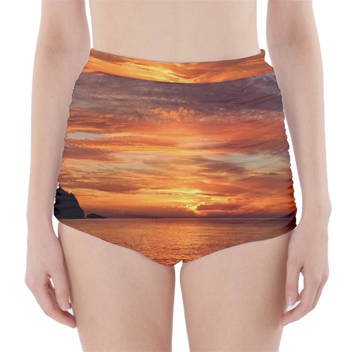 Sunset Sea Afterglow Boot High-Waisted Bikini Bottoms