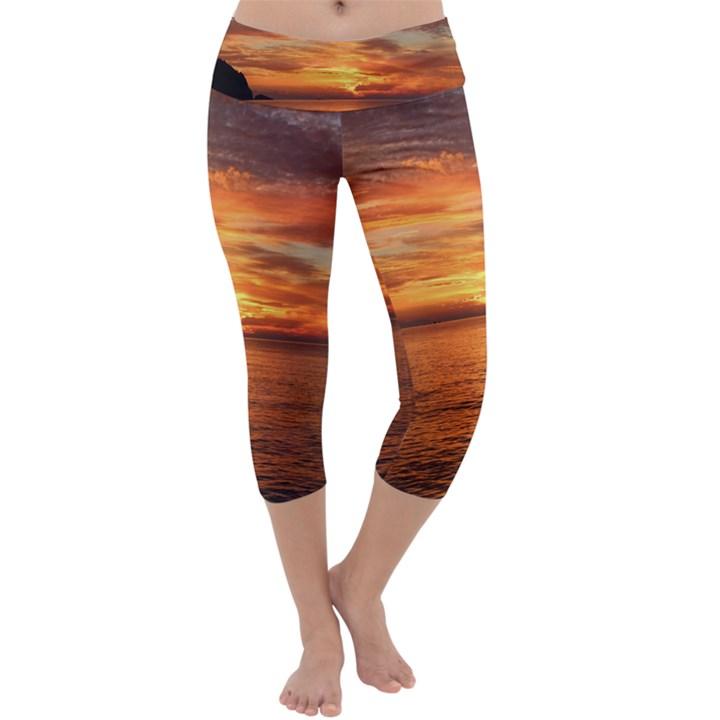 Sunset Sea Afterglow Boot Capri Yoga Leggings