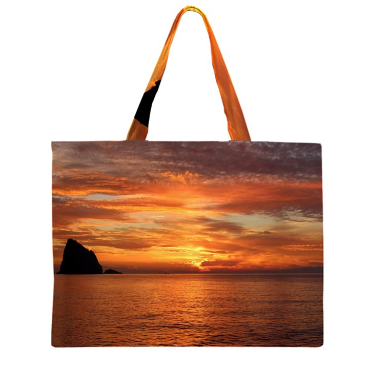 Sunset Sea Afterglow Boot Large Tote Bag