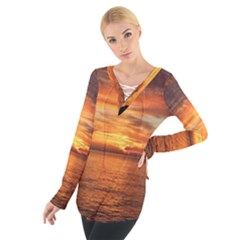 Sunset Sea Afterglow Boot Women s Tie Up Tee