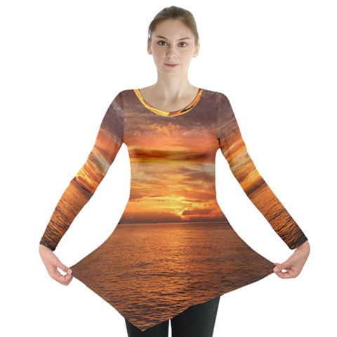 Sunset Sea Afterglow Boot Long Sleeve Tunic