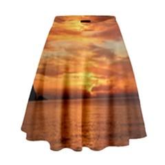 Sunset Sea Afterglow Boot High Waist Skirt