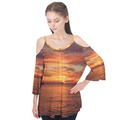Sunset Sea Afterglow Boot Flutter Tees